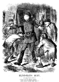 Cartoon by John Tenniel criticising the police's alleged incompetence