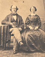 John William Baker (1822-1901) and his wife Margaret Jackson (1822-1897)
