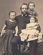 John William Baker's sibling, Joseph, and his three children