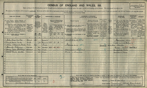 A A Milne 1911 Suffolk Census Image