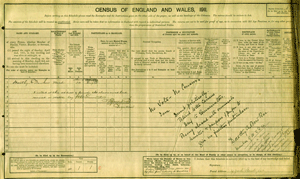 Dorothy Bowker 1911 Census Image