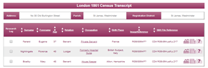 Florence Nightingale 1861 Census Transcript