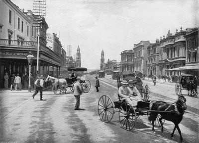 A Buggy in King William Street Adelaide